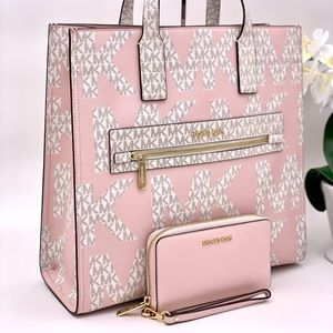 Michael Kors Kenly Tote and Wallet Set